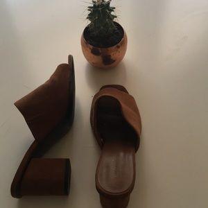 Zara Camel Brown Mules/ Mule Sandals